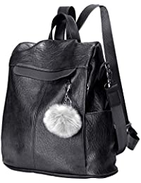 Women Backpack Waterproof Anti-theft Lightweight PU Leather Fashion Purse Shoulder Bag Travel Backpack Ladies