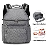 Xnuoyo Baby Nappy Changing Backpack, Water-Resistant Expandable Large Capacity Baby Diaper Bag Rucksack