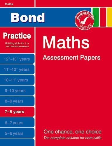 Bond Maths Assessment Papers 7-8 years by J M Bond (2011-11-14)