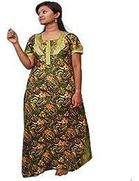 Aisnigha Nighties Women's Nighty green