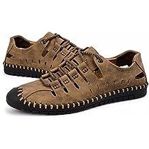 Hombres Deportivas Sandalias Zapatillas Verano Pescador Playa Zapatos Senderismo Casuales Cuero Chanclas Transpirable Trekking