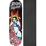 "Bacon Skateboards Gut Vomiting Devil Whore Skateboard Deck - 8.38"" X 32"" With Black Magic Griptape - Bundle Of 2 Items"
