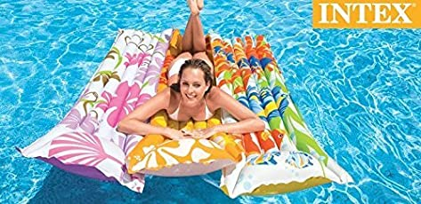 Intex Inflatable Fashion Float Swimming Mat - Water Aqua Fun (Colors & Designs May Vary)