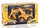 MousePotato Wireless Remote Control Rechargeable Truck Excavator Forklift 4WD with Light Big Size Toy Gift for Kids