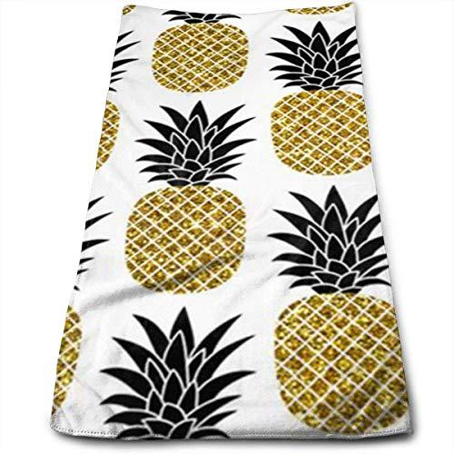 Fine Light Pink Glitter (DDHHFJ Glitter Pineapples Microfiber Kitchen Towels - Super Absorbent Dish Towels - Tea Towels(12 X 27.5 Inch))