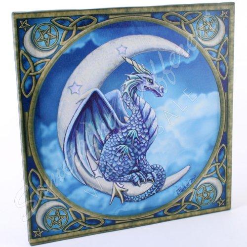 lisa-parker-drago-in-crescent-moon-wall-plaque-immagine-su-tela