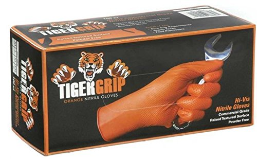 Tiger Grip Orange Nitril Handschuhe - X Large - 2 Boxen/180 Handschuhe