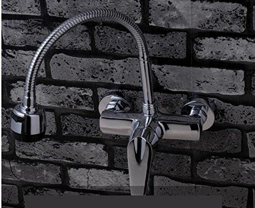 JinRou moderno/lusso contemporaneo lavello rubinetto montato a parete il rame