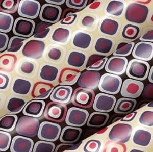 Feuilles de transfert pour chocolat motifs carrés colorés Lot de 4