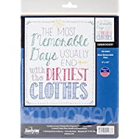 Janlynn Most Memorable Days Stamped Embroidery Kit, Cotton, Multi-Colour, 20 x 20.5 x 0.1 cm