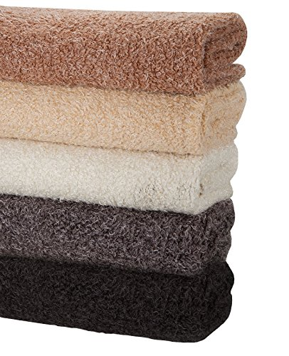 Neotrims Soft Sheep Wool Fleece Look, Two Toned Marl Fabric in 4 Natural Colours, Perfect for Photography Backdrops or Dressmaking Crafts, Luxurious, Soft Handle, Ideal for Babies. By The Metre