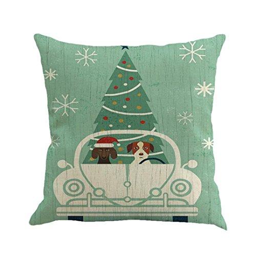 Kleinkind-club Sessel (AMUSTER Vintage Weihnachten Sofa Bett Home Decor Kissenhülle für Zuhause Taille Throw Kissen Cover ( Kissen ist nicht inbegriffen ) (B))