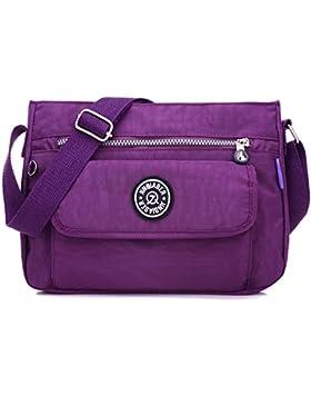 MeCooler Umhängetasche Mädchen Taschen Messenger Bag Damen Kuriertasche Designer Sporttasche Wasserfeste Strandtasche...