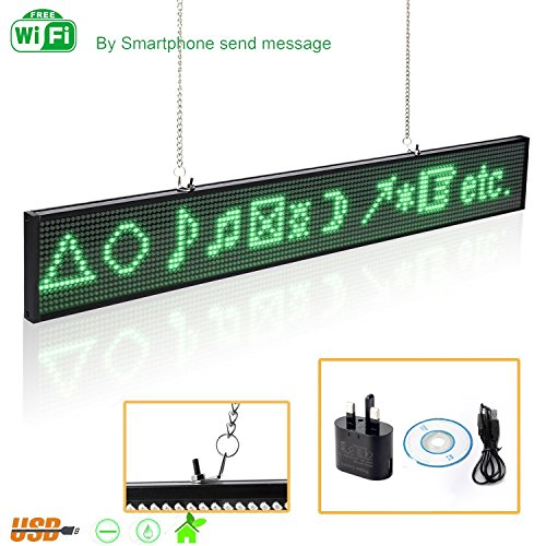 Optoelectronic Displays 40 X 6inch Full Color Rgb Smd Led Signs Remote Storefront Message Board,open Sign Programmable Scrolling Display For Coffee Bar To Be Highly Praised And Appreciated By The Consuming Public Electronic Components & Supplies