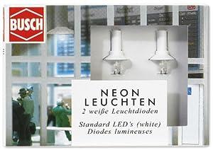 Busch 5987  - Luces de neón (LED Blancos) Importado de Alemania