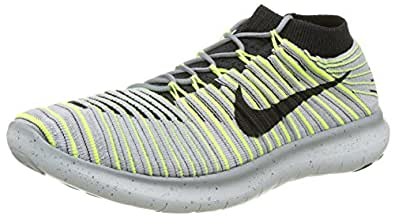 Nike Men's Free Rn Motion Flyknit Running Shoes, (Wolf