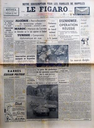 FIGARO (LE) [No 3658] du 11/06/1956 - AL...