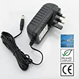 Polaroid PDM-0824 Portable DVD Player 12V Mains AC Adaptor Charger Power Supply