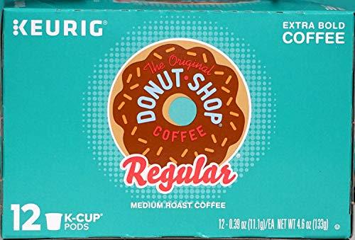 Keurig The Original Donut Shop Normaler, Mittelgroßer Röstkaffee, Extra Fett, 12 K-Cup-Schalen Green Cup