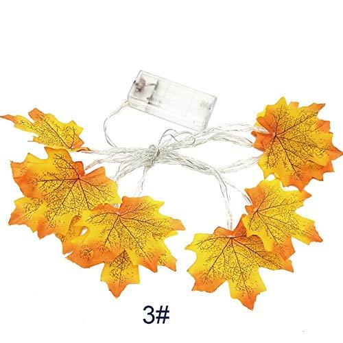 MJIE Halloween led Lichterkette 1,5 mt 10led beleuchtet Herbst Herbst kürbis ahorn Kranz Thanksgiving Dekoration 1,5 mt c Keine batterien -