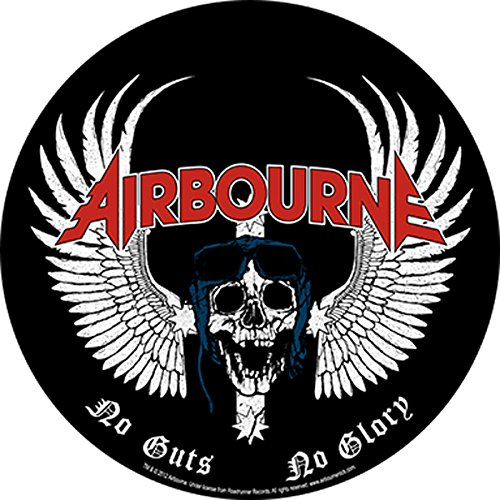 AIRBOURNE SKULL WING Backpatch