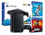PS4 Slim 1TB schwarz Playstation 4 Konsole FIFA 19 + Red Dead Redemption 2
