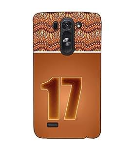 Fuson Designer Back Case Cover for LG G3 S :: LG G3 S Duos :: LG G3 Beat Dual :: LG D722K :: LG G3 Vigor :: LG D722 D725 D728 D724 (Roman Number 17 theme)
