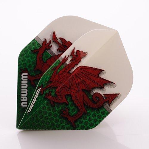 Winmau Mega Standard Darts Flights Wales Flagge Walisischer Drache -
