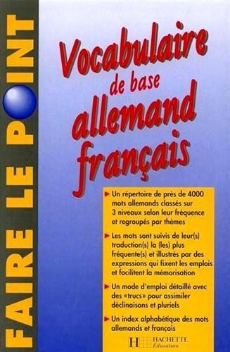 Vocabulaire de base Allemand Français : Edition 1997 entièrement refondue by Charles Chantelanat (1993-10-01)