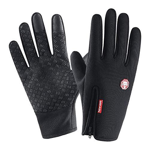 Running Winter-handschuhe (Neusky wasserdichter Touchscreen Handschuhe Winterhandschuhe Warme Handschuhe Sports Handschuhe Fahrradhandschuhe Laufhandschuhe für Damen und Herren (Vintage-Schwarz, S))