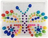 Fajiabao 318pcs Intelligence Learning Education Board Building Bricks Blocks Jigsaw Puzzle Colorful Mushroom Nails Pegboard Game Toys Set Boys 4 Year olds
