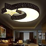 Kinder Lampe led-Decke Lampe modern minimalistischen Ideen junge Zimmer Sterne leuchten Mädchen Schlafzimmer Lampe Studie der Leuchten,30W weiss schwarz/warmes Licht