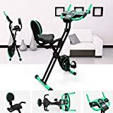 We R Sports Folding Exercise Bike Magnetic Fitness Cardio Machine Cycle 2 in 1 Exercise Bike (Green)