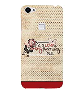 It is A Love Story 3D Hard Polycarbonate Designer Back Case Cover for Vivo X7