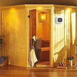 Karibu Element Sauna Jarin inkl. 9-kW-Ofen - mit Dachkranz -