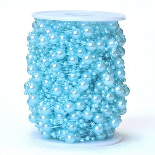 QHGstore Perlenschnur-Korn-Girlande, die Brautblumenstrauß-Dekoration DIY Tabellen-Mittelstücke Wedding ist 24 # blau