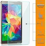 Saxonia. 2x Vidrio Templado Samsung Galaxy Tab S 8.4 (SM-T700 T705) Protector de Pantalla Cristal Templado [9H Durezza - Alta Definicion] Claro Transparente [3D Touch Compatibles]
