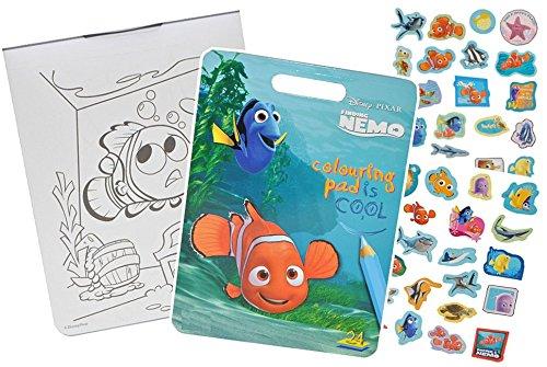 Unbekannt Malbuch / Malblock mit 41 Stickern - Disney Findet Nemo Fisch Tier - Malvorlagen Aufkleber Ausmalbuch -