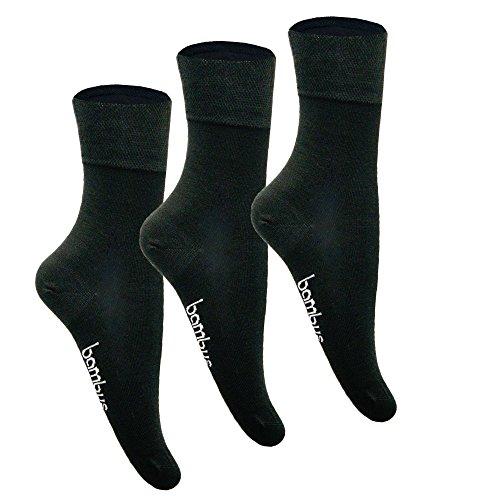 5-10 Paar Bambus Business-Socken für Herren & Damen ✓Hoher Tragekomfort ✓Ohne Gummi-Bund|Größen von 35 über 43-46 bis 50| Damensocken & Herrensocken in schwarz, weiß von SG (35-38, 10 Paar Anthrazit) (Grau Viskose)