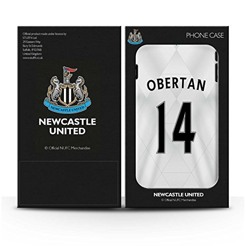Offiziell Newcastle United FC Hülle / Matte Snap-On Case für Apple iPhone 4/4S / Tioté Muster / NUFC Trikot Away 15/16 Kollektion Obertan