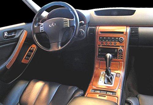 Infiniti G35 G 35 G35 4 Tür-Limousine Innen Burl Holz Dash Trim Kit Set 2005 2006