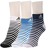 #4: Adidas Flat Knit Low Cut Socks - Pack of 3 (Blue Depth/White/Strong Blue)