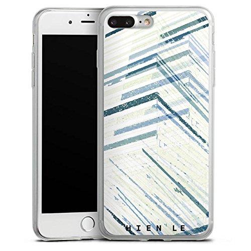 Apple iPhone 8 Slim Case Silikon Hülle Schutzhülle HIEN LE Streifen Muster Silikon Slim Case transparent