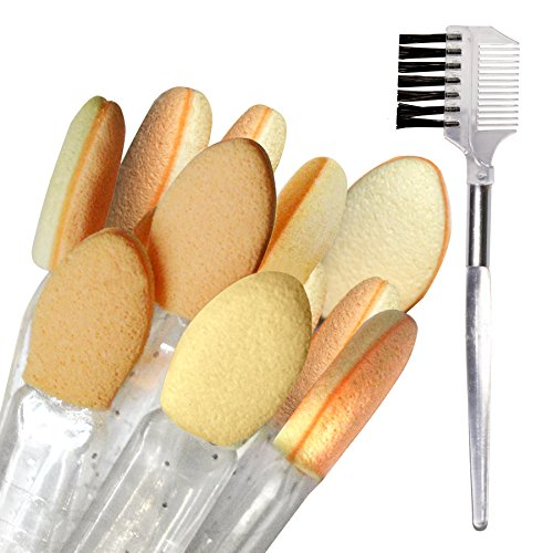 Panache Eye Make Up Kit, Beauty, Tools & Accessories, Makeup Brushes & Tools,10 Pcs. Eyeshadow Applicators & 2 In 1 Lash (Pack Of 11)