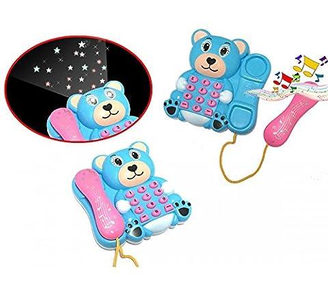 Téléphone enfants d'ours - lumière et son - projecteur combiné