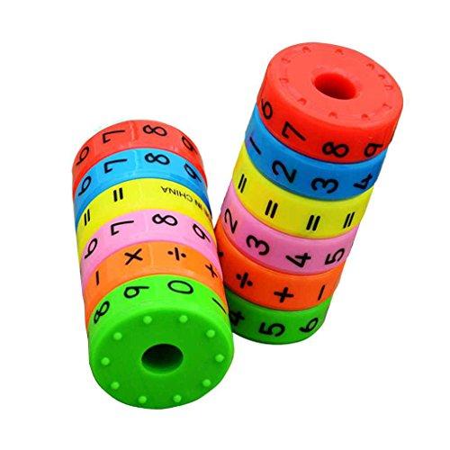 Bobury Magnética aprendizaje de las matemáticas Cilindro Números Juguetes educativos Inteligencia Kinder aritméticas Juguetes