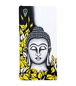 Prasanna Buddha 3D Hard Polycarbonate Designer Back Case Cover for Sony Xperia Z5 :: Sony Xperia Z5 Dual (5.2 Inches)