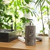 Wohnfreuden Marmor Seifenspender rundum poliert 15 cm Höhe schwarz - 2