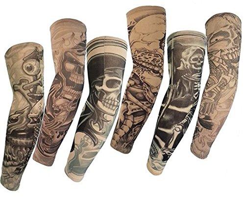 Männer Piraten Kostüm Realistische - HaimoBurg 6 Stück Temporäre Gefälschte Slip Tattoo Tattooärmel Arm Strümpfe