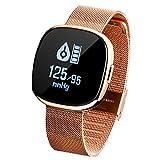 Smart Watch (Bluetooth), Star 51 Digital Sports Smart Watch- Stilvolles Design- Fitness Tracker mit iOS Android, Pulsmesser, Wasserdichte Schrittzähler Uhr mit Schlaf Monitor
